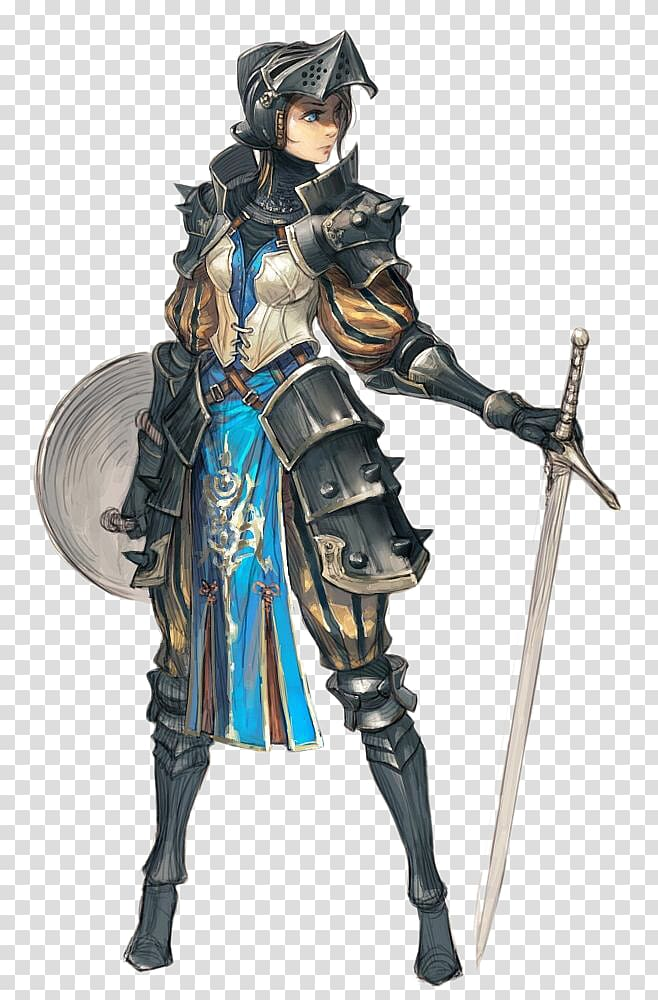 Female knight illustration, Knight Female Plate armour Woman.