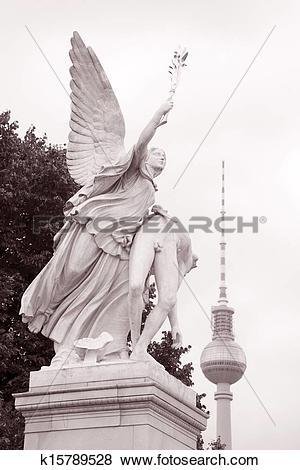 Pictures of Warrior Sculpture, Schlossbrucke Bridge, Berlin.