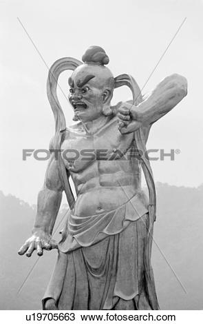 Stock Photo of Asian Warrior Statue u19705663.