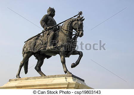Stock Photo of Warrior on Horse Back.