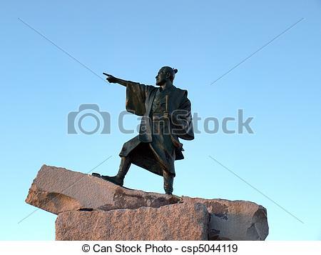 Stock Photographs of Statue of a Samurai warrior.