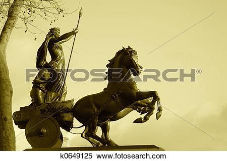 Stock Image of Warrior Statue k0649125.