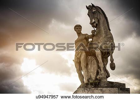 """Picture of """"Roman warrior statue on Pont d'iena (bridge), Paris."""