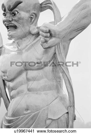 Stock Photography of Asian Warrior Statue u19967441.