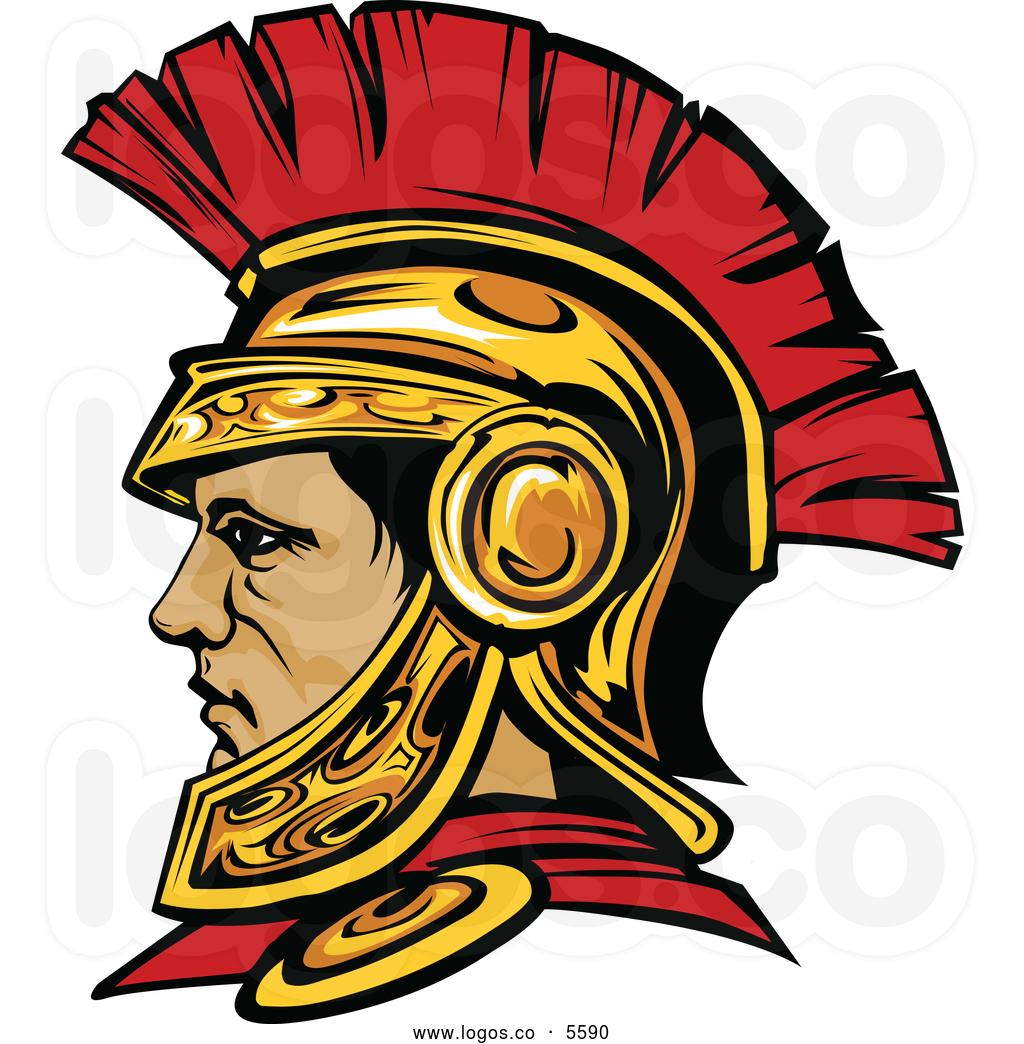 Warrior logo clip art.