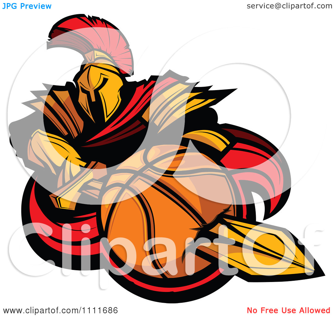 Clipart Spartan Warrior Mascot.