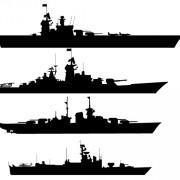 Battleships Clipart.