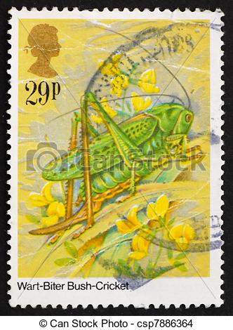 Stock Photo of Postage stamp GB 1984 Wart.