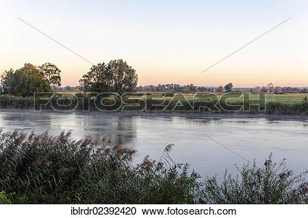 """Stock Photography of """"Warta river, Warta River Mouth National Park."""