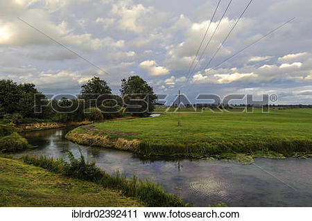 """Stock Photography of """"Tributary of the Warta river, Warta River."""