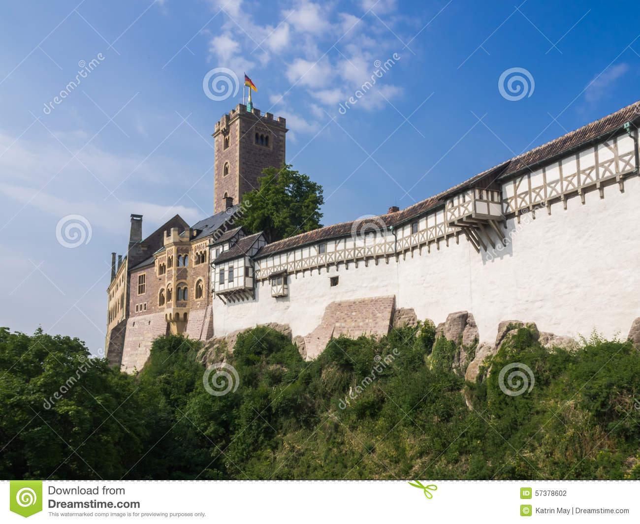 Castle Wartburg Near To City Eisenach In Germany Stock Photo.