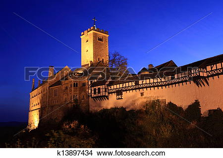 Stock Photo of Wartburg Castle in Germany k13897434.