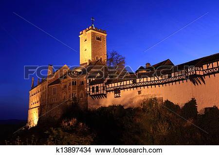 Stock Photo of Wartburg Castle in Germany k13897434.