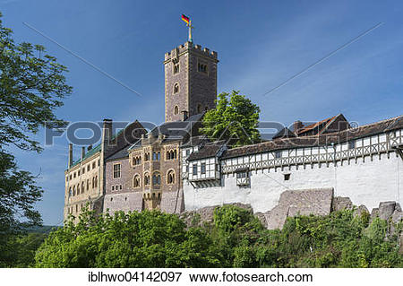Picture of Wartburg castle, UNESCO World Heritage Site, after.