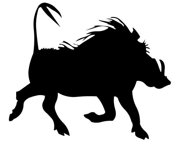 Warthog clipart silhouette free.