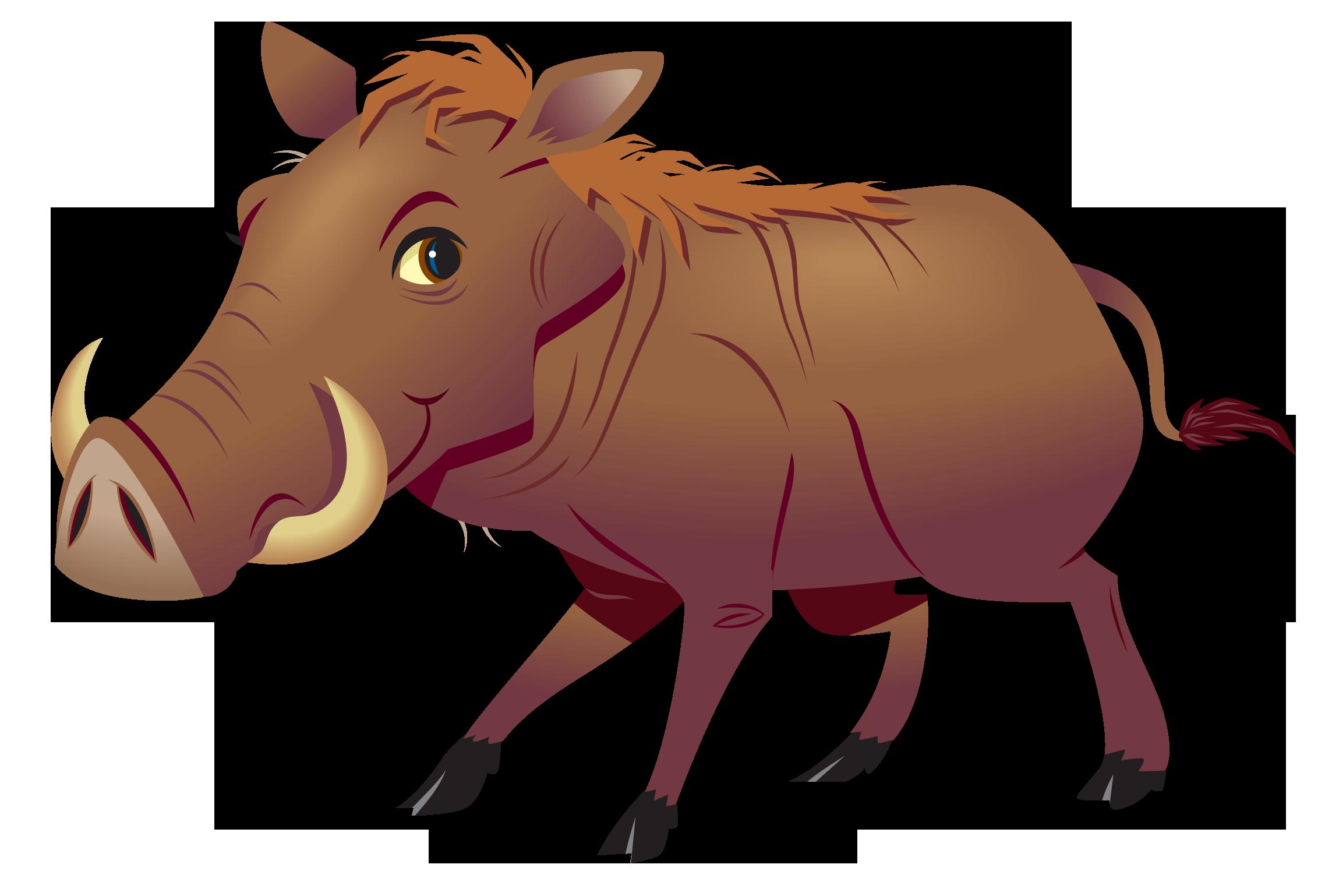 Clip art,Snout,Cartoon,Warthog,Livestock,Boar,Bovine,Suidae.