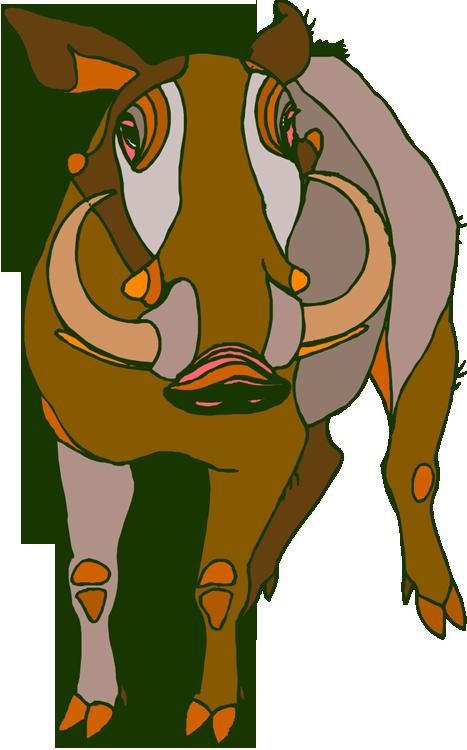 Free Warthog Clipart.