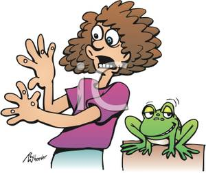 Frog With Warts Clipart.