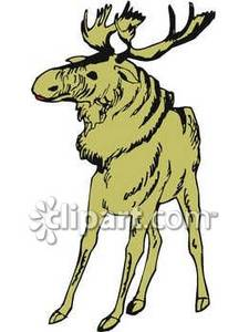 Wary_Brown_Moose_Royalty_Free_Clipart_Picture_090227.