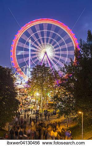 Stock Images of Ferris wheel, Cannstatter Volksfest or Cannstatter.