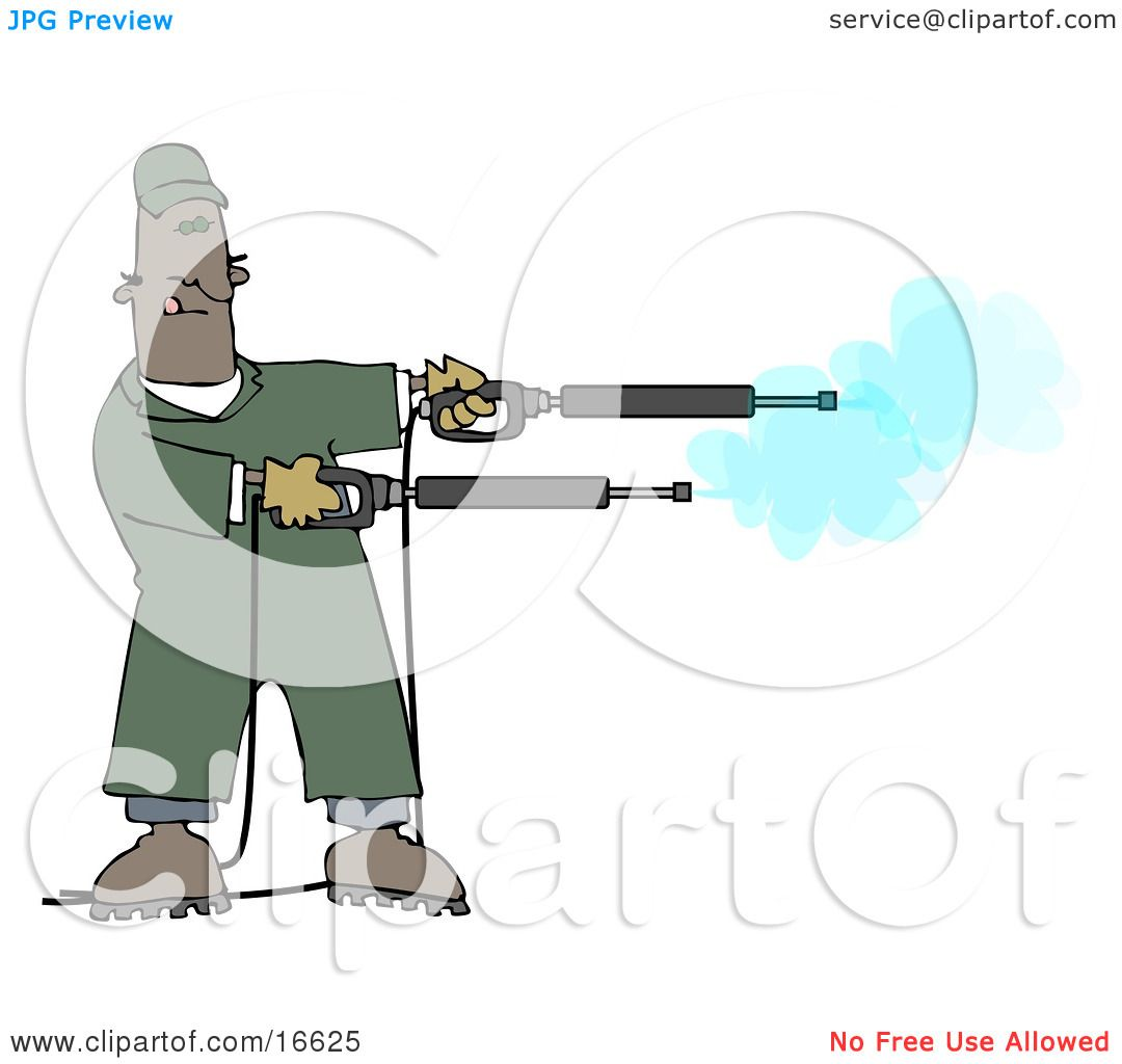 Mischievious Adult African American Man In Green Coveralls.