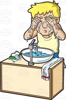 shower down Cartoon Clipart.