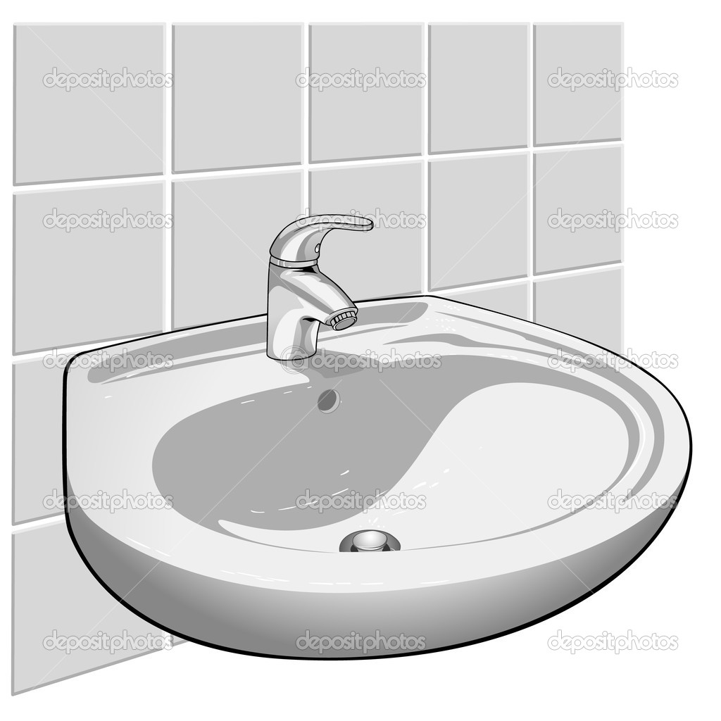 Washbasin clipart - Clipground for bathroom sink clipart  570bof