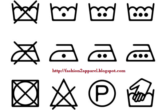 Care Label Symbols for Clothing and Textile Products.