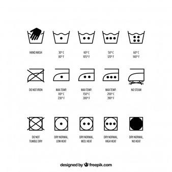 Washing Symbols Vectors, Photos and PSD files.