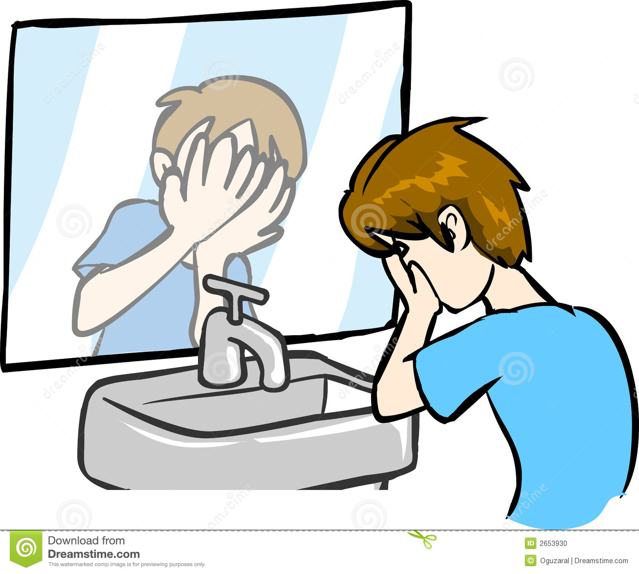 Face wash clipart.
