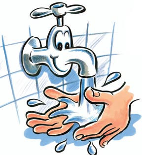 Wash my hands clipart.