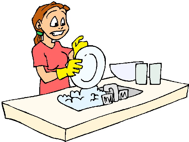Washing up clipart #6