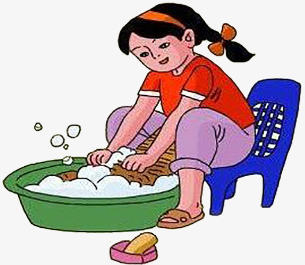 Wash Clothes Clipart.