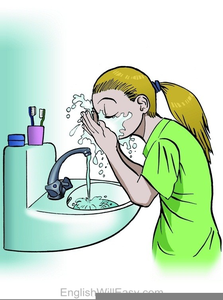 Clipart Face Wash.
