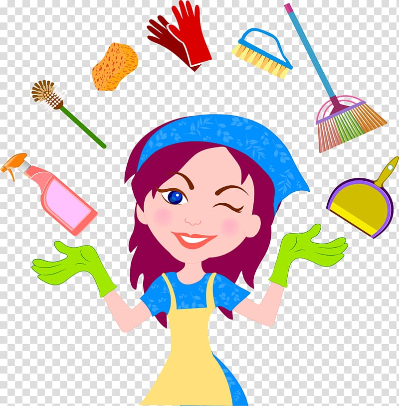 Cleaning transparent background PNG cliparts free download.