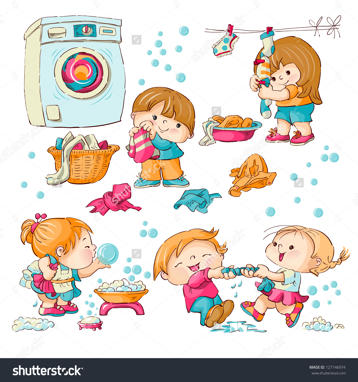 14+ Wash Clothes Clipart.