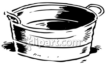 Washing and tub clipart image.