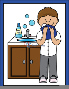 Wash Your Face Clipart.