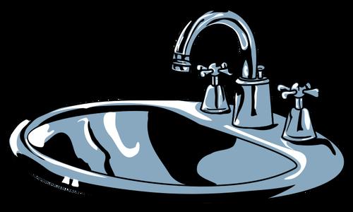 Clean Sink Clipart.