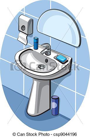 Clip Art Vector of washbasin csp9044196.