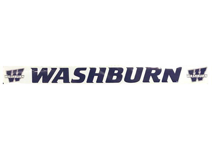 Washburn University Logo Horizontal Decal.