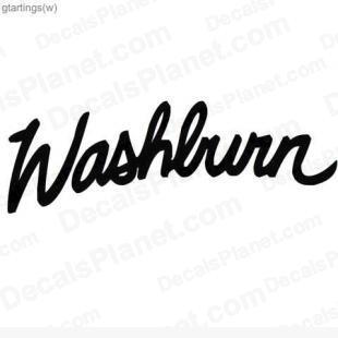 Washburn logo decal, vinyl decal sticker, wall decal.