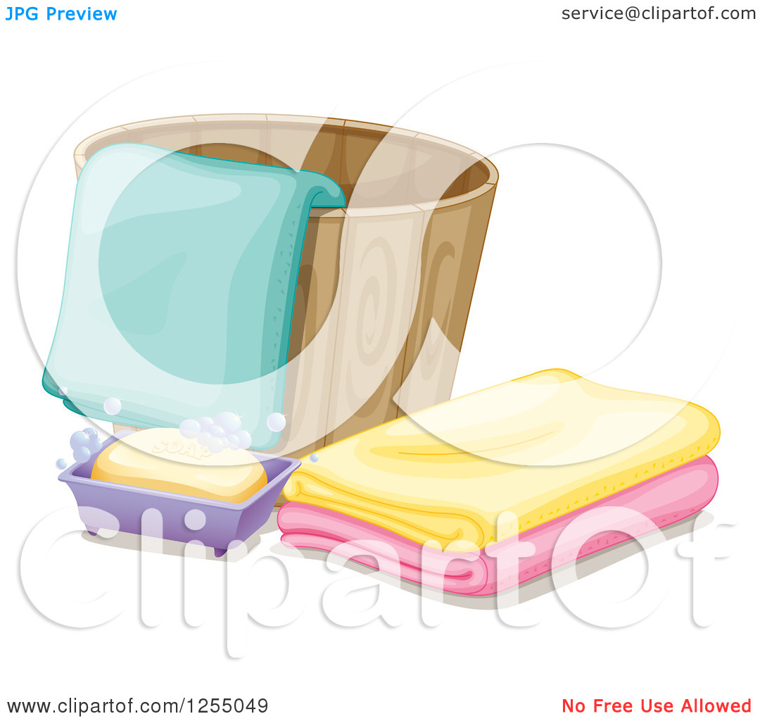 Washcloth In Water Clipart.
