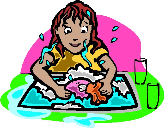 Washing up Clip Art.