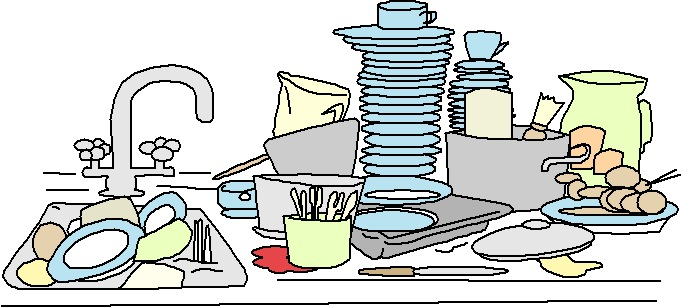 Clipart washing up.