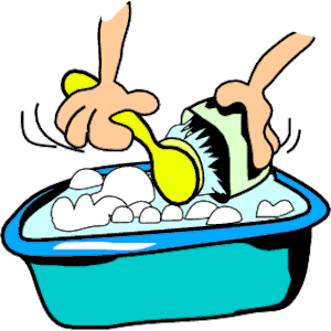 Washing Dishes Clipart.
