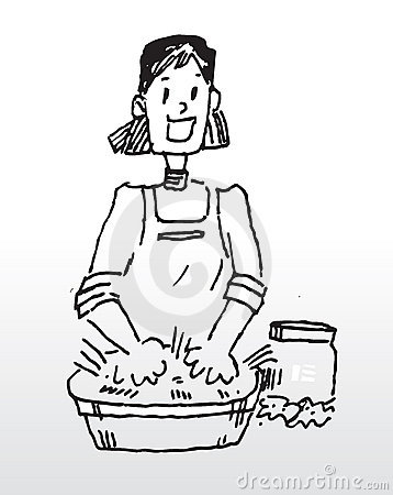 Hand Washing Cloth Stock Image.