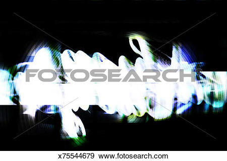 Stock Illustration of Bright washed out object against dark.