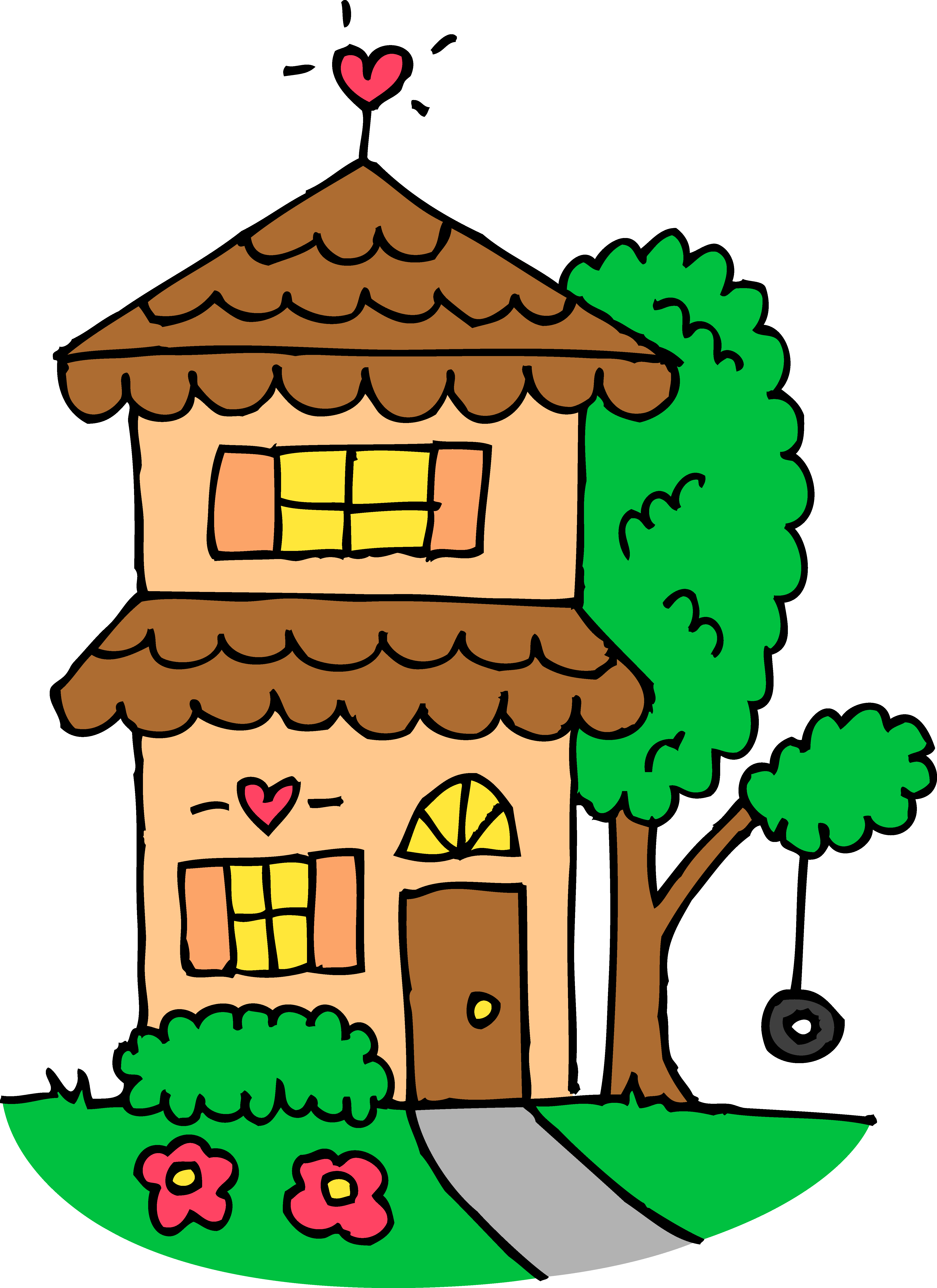 House clipart transparent washed out.