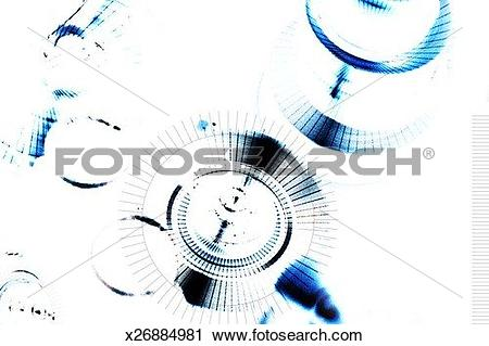 Clipart of Washed out image of disks x26884981.